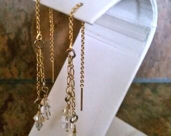 14K Plated Gold Threader Earrings