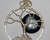 Total Eclipse Moon Tree of Life Pendant