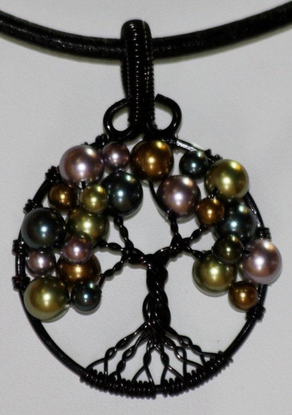 Swarovski Crystal Pearl Tree of Life Pendant