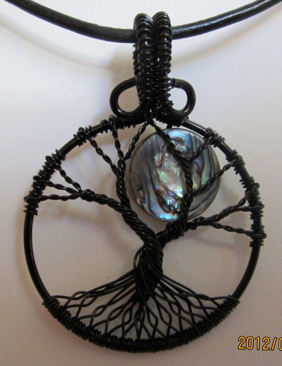Paua Shell Moon Tree of Life