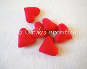 Plush Hearts - 6 pack - Pick Your Colors