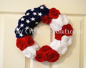 Patriotic Rose Wreath