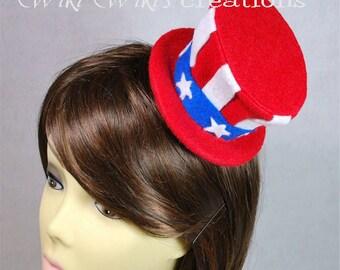 Patriotic Hat Hair Clip