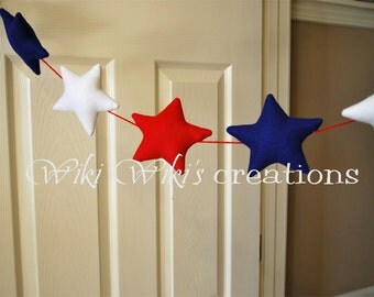 Plush Star Garland 6 feet- Pick your color