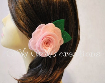 Rose Hair Clip - Pick Your Color