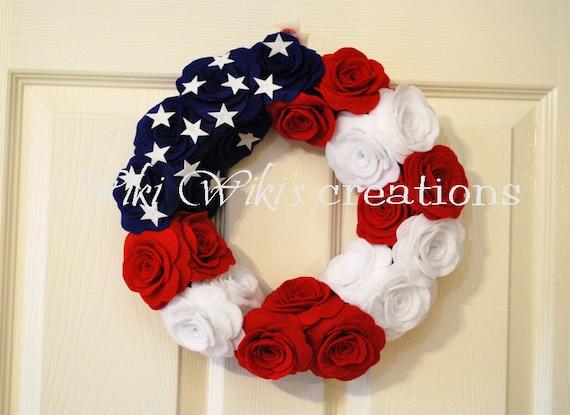 Patriotic Rose Wreath