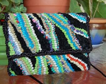 VETROMILE collage art evening bag purse