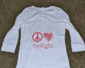 Peace Love Twilight White Henley 3/4 Sleeve