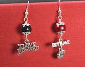 Twilight - I love Edward - Bite Me Apple - Earrings