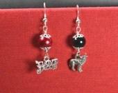 Twilight - I love Jacob - Wolf - Earrings
