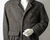 Eddie Bauer Tweed Jacket -- Medium -- Brown Outerwear Jacket