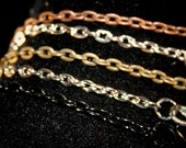 10 - 24 inch Rolo Chain Necklaces (3 mm wide) GREAT Quality - Lead and Nickel Free