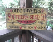primitives country decor ,sign made of wood,   primitive seed sign, rustic ,primitive home decor, primitive wall art, country kitchen,