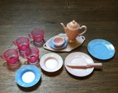 Vintage Plastic Doll Dishes