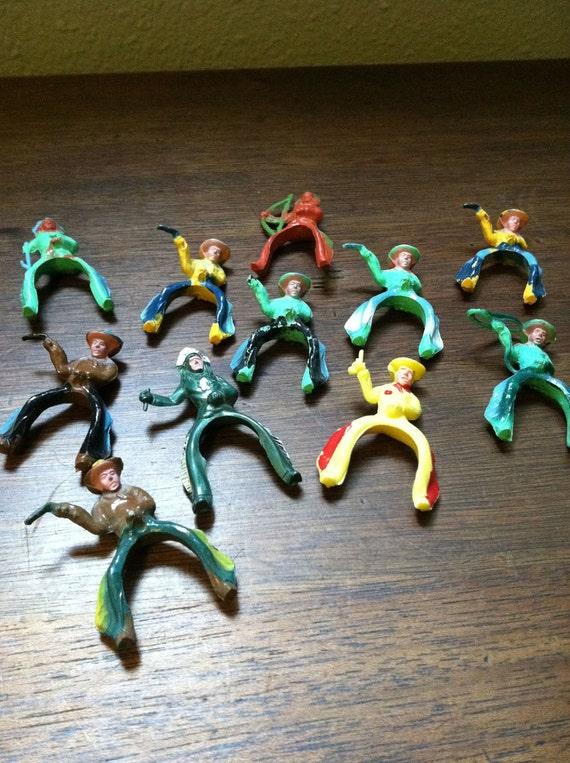 Vintage Miniature Cowboys & Indians