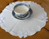 German small table mat, tablecloth, doily, excellent quality, signed
