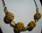 Glass Tiger Stripe Necklace