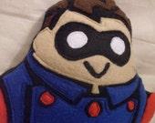 BUCKY Super Dump - fleece appliqued plush toy