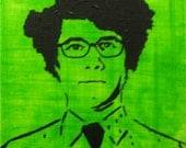 """Maurice Moss (The IT Crowd) Painting 8""""x10"""" canvas (ready to hang)"""