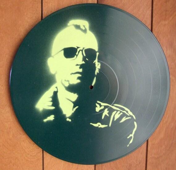 Taxi Driver Robert Deniro Stencil Record Art Lime Green