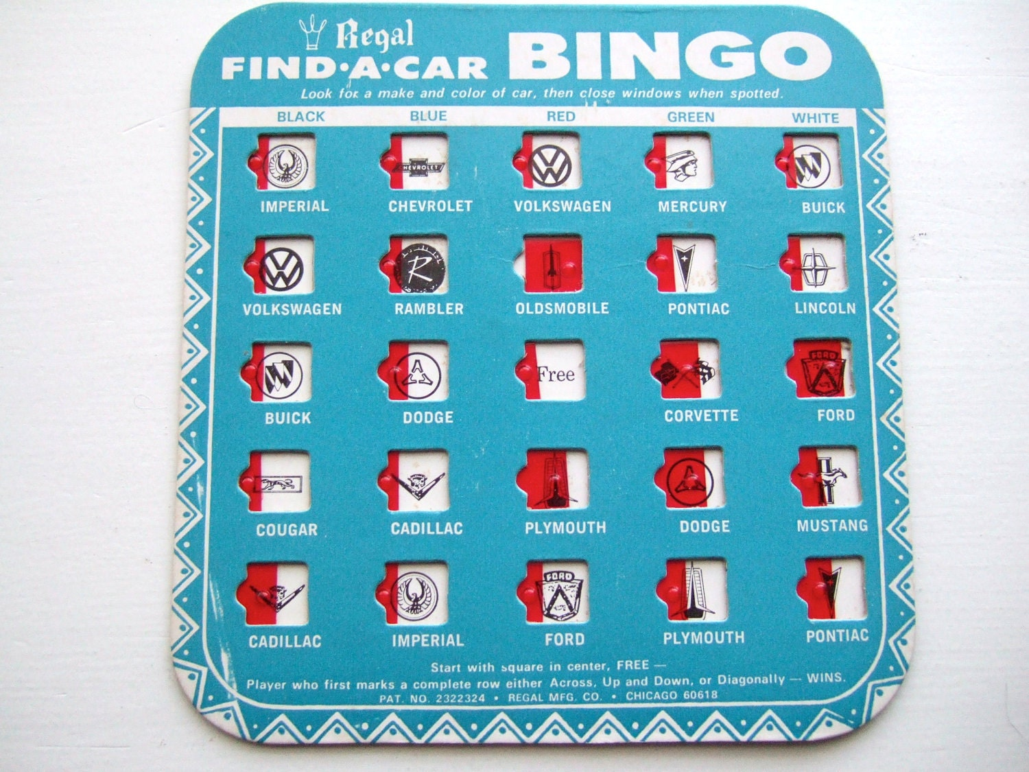 It's just a picture of Inventive Car Bingo Cards