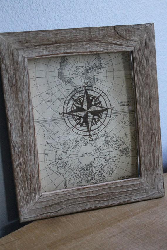 Vintage Map Ephemera Compass Travel / Explorer's Art
