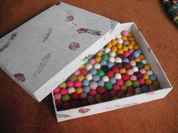 Multicolored felt balls 2cm 1000 pieces