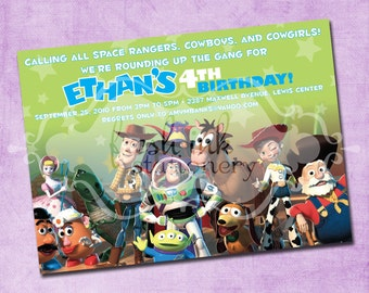 Toy Story Gang Birthday Invitation