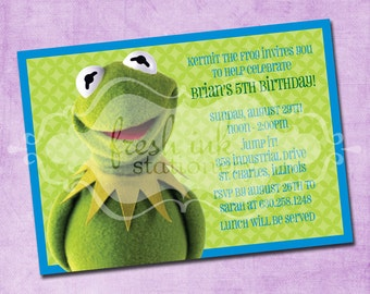 Kermit the Frog Birthday Invitation