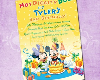 Mickey and Friends Birthday Invitation
