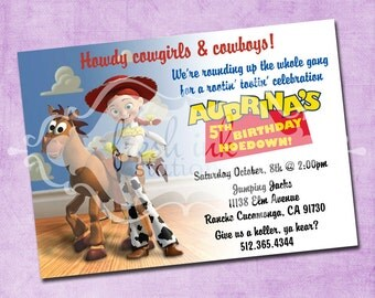 Jessie and Bullseye Birthday Invitation