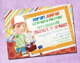 Handy Manny Birthday Party Invitation