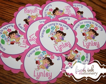 Personalized Dora Stickers