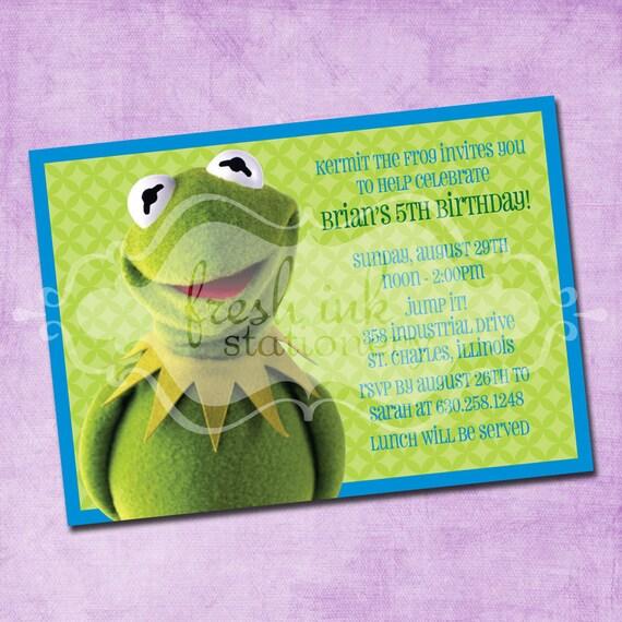 Kermit the Frog Birthday Invitation