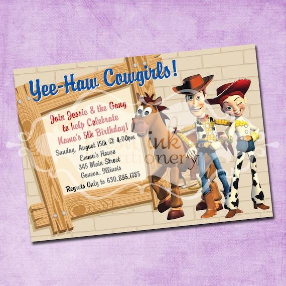 Western Toy Story Birthday Invitation