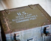 Vintage Wooden Military Box
