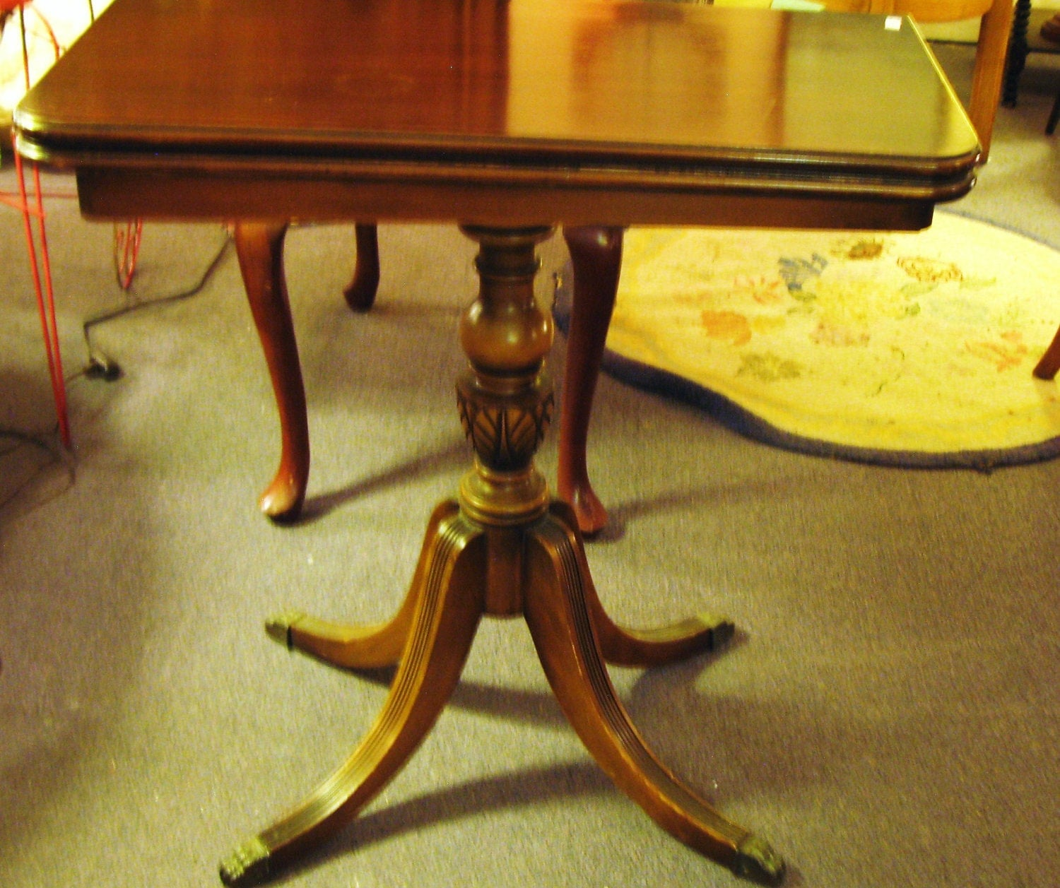 Duncan phyfe mahogany game table for Duncan 5 dining room table