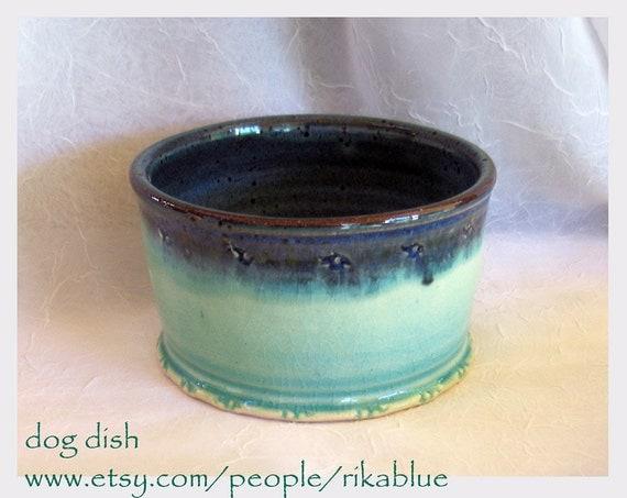 Pottery dog bowl