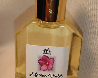 AFRICAN VIOLET Exotic Perfume Oil by Sukran -15ml- Perfect fragrance of Violets, Fresh and not too sweet