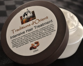 INTENSIVE HAIR TREATMENT with Argan Oil, Shea Butter and Honeyquat -125ml (4.25 oz) - Deep Moisturizer for Dry or Damaged Hair