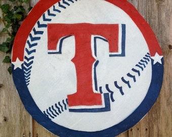 Texas Rangers Door Hanger, Baseball Door Hanger, Screen Door Hanger,  Wreath
