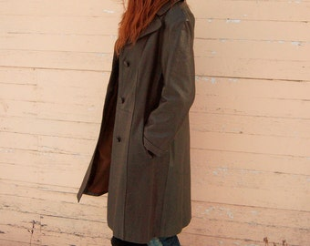 Beautiful Vintage 1960's 3/4 Antilope Skin Leather Coat- Size Small- Discounted