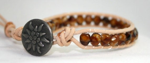 Tigers eye faceted wrap bracelet - faceted tigers eye - natural wrap - chan luu styled wrap