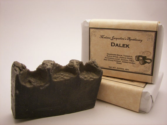 CLEARANCE SALE Doctor Who, Dalek, Handcrafted Luxury Bar Soap