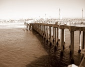 Huntington Beach Pier -  8X10 Dry Mounted Print