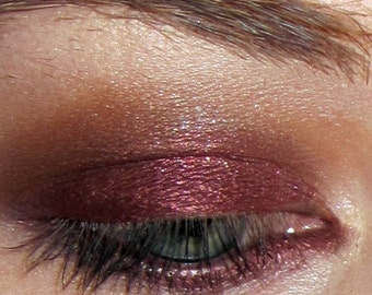 Harlot eyeshadow- deep burgundy wine w/ copper & burgundy glitter