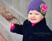 Infant and Toddler Girls' Crochet Beanie with Flower