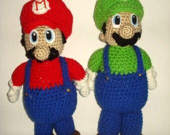 Its Mario time:  Super Mario Bro's inspired dolls.  Mario OR Luigi