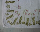Vintage Swedish tablecloth  / Linneae print