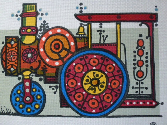 50 % OFF Vintage 60s Swedish textile print / Lars Nyman / Mod art